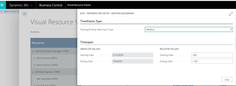 Visual Resource Viewer: Zeitraum selber auswählen
