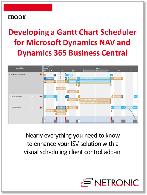 Developing a Gantt Chart Scheduler for Microsoft Dynamics NAV and 365 Business Central