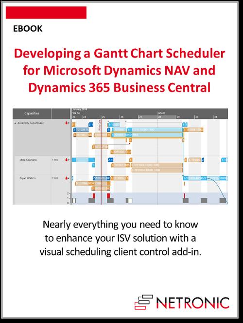 Developing a Gantt Chart Scheduler for Microsoft Dynamics NAV and 365 Business Central