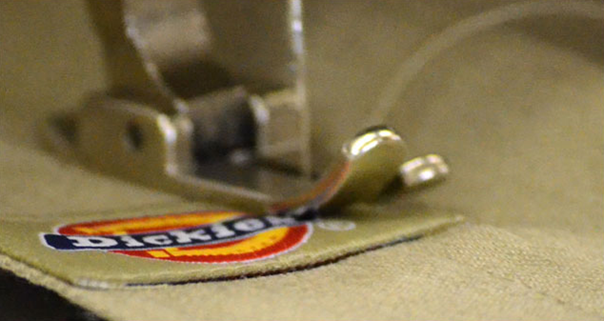 Dickies embroiders with plan