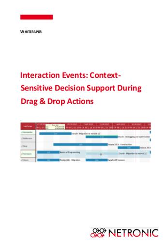Whitepaper| Gantt Chart Tips - Interaction Events with VARCHART XGantt