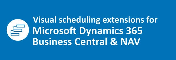 visual scheduling extensions for Microsoft Dynamics 365 Business Central
