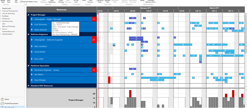 Visual Scheduling Add-ins für Microsoft Dynamics NAV