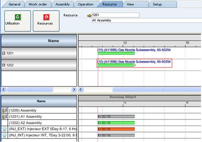 Gantt Chart Referenz be.as: Ressourcenplanung mit SAP Business ONE