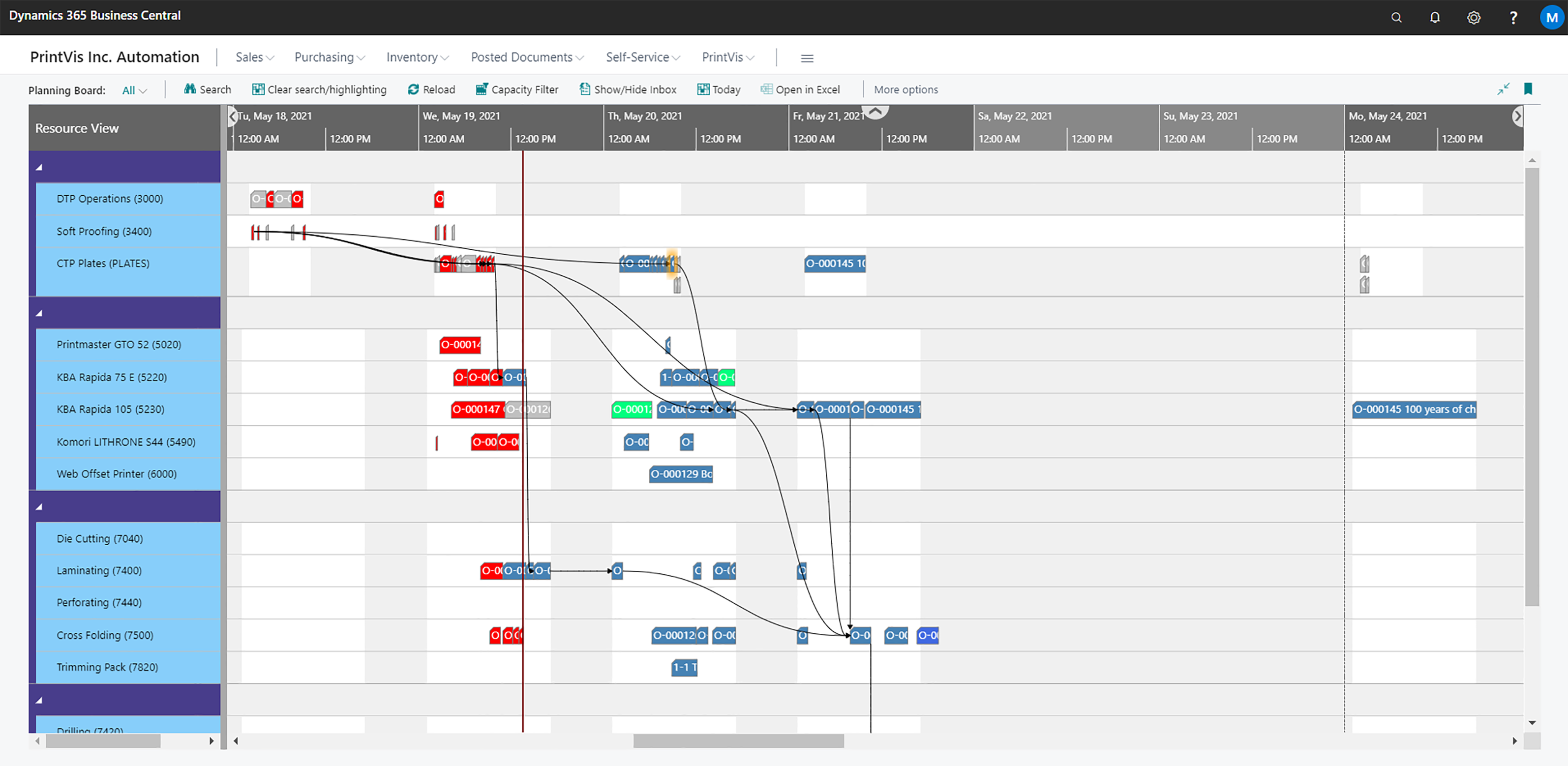How PrintVis built a production planning board for the print industry