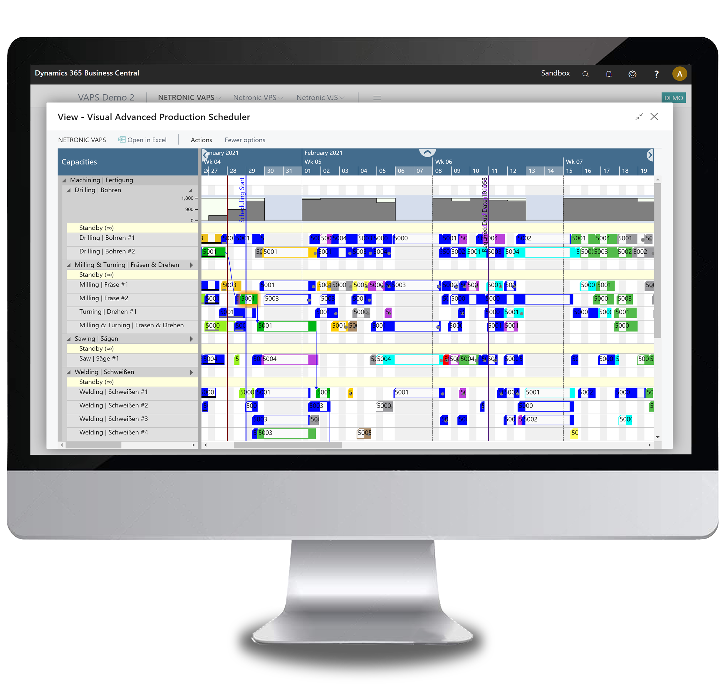 Visual Advanced Production Scheduler - finite capacity scheduling for Dynamics 365 Business Central