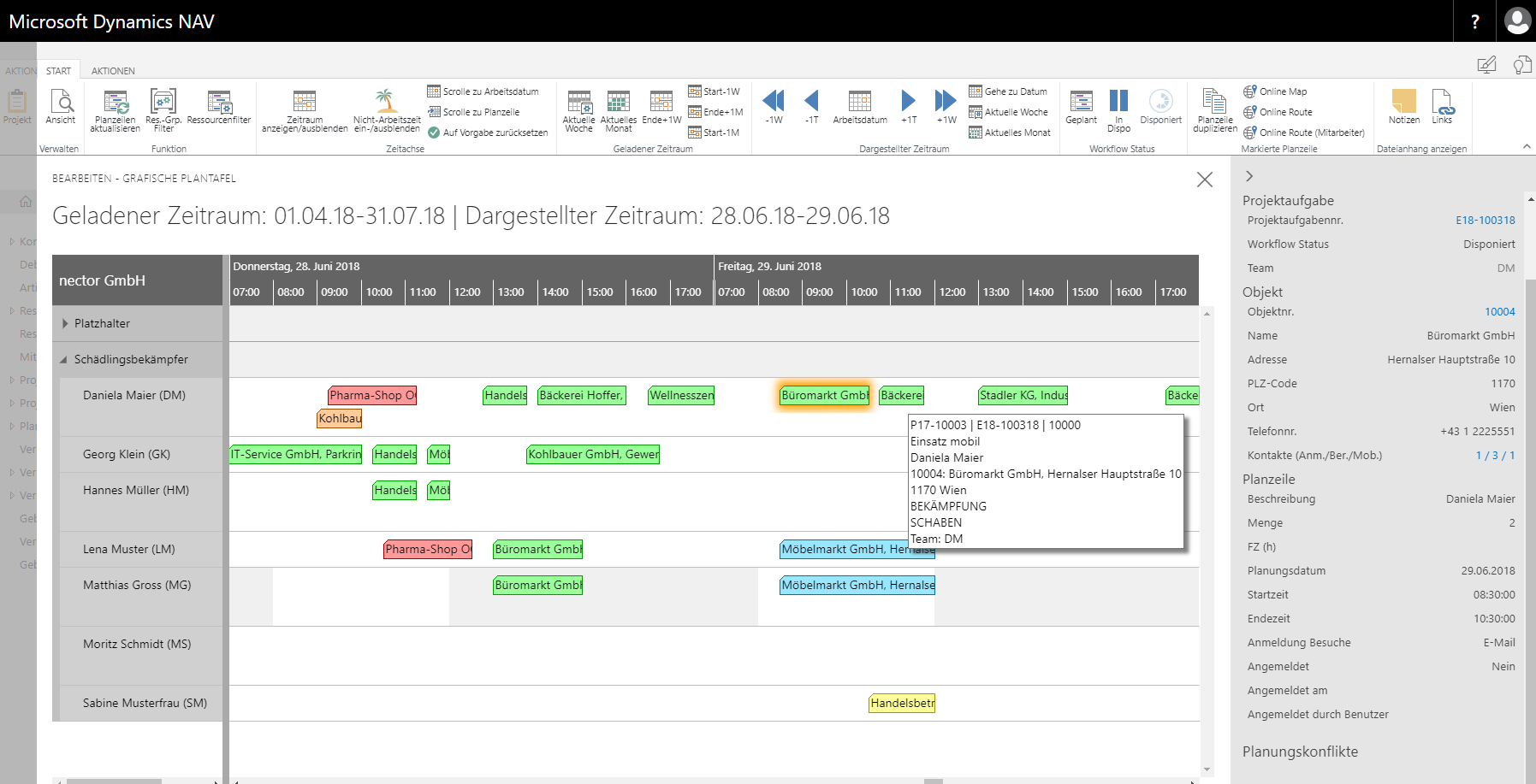 Referenz nector - customized client control add in für Microsoft Dynamics 365 Business Central